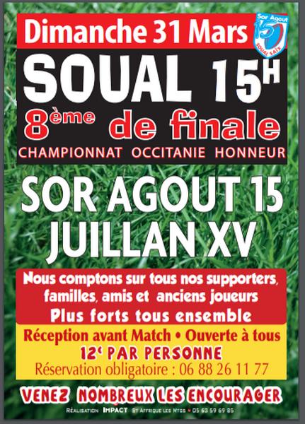 Match Sor Agout XV