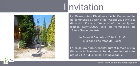 Invitation vernissage sculpture