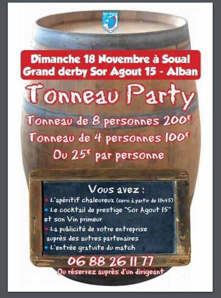 Tonneau party Sor Agout