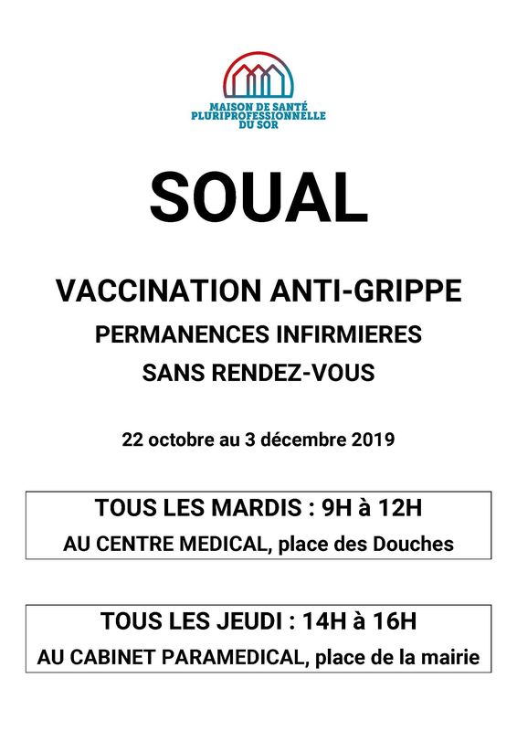 Permanences vaccination anti-grippe
