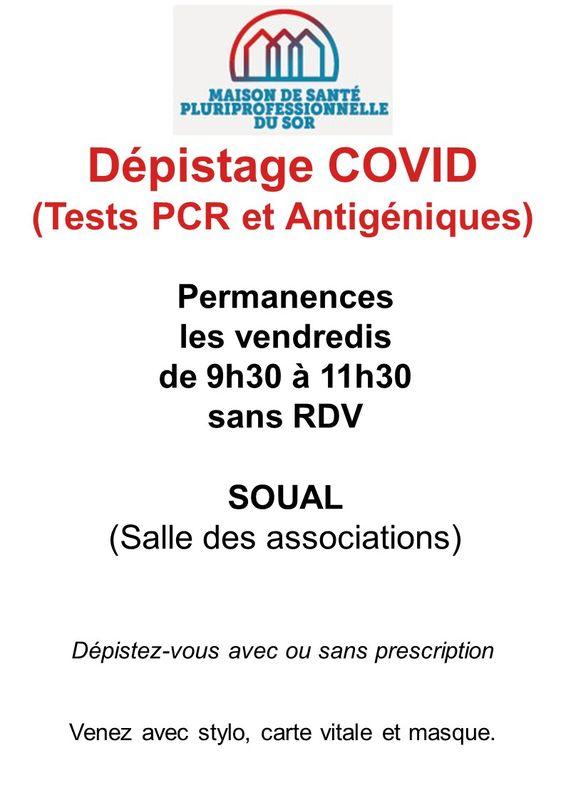 Dépistage COVID