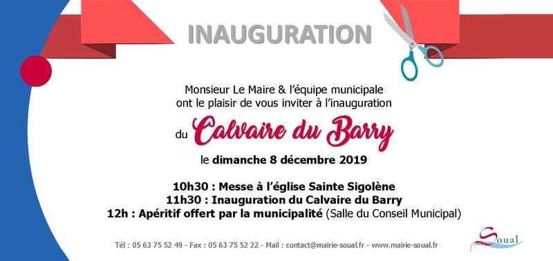 Inauguration Calvaire du Barry 2019