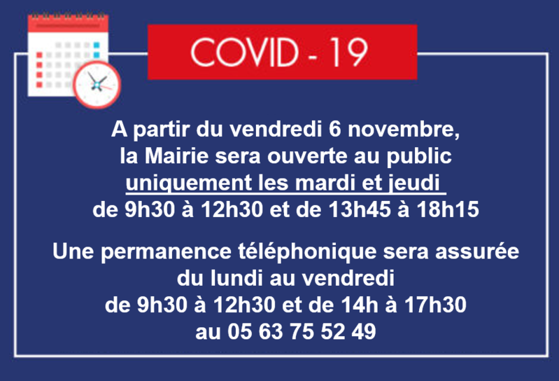 Modification horaires Mairie