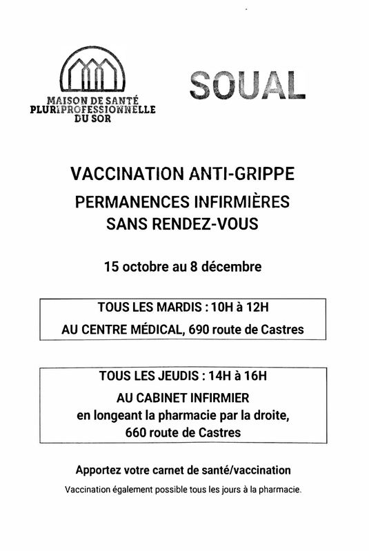 Permanences vaccin grippe