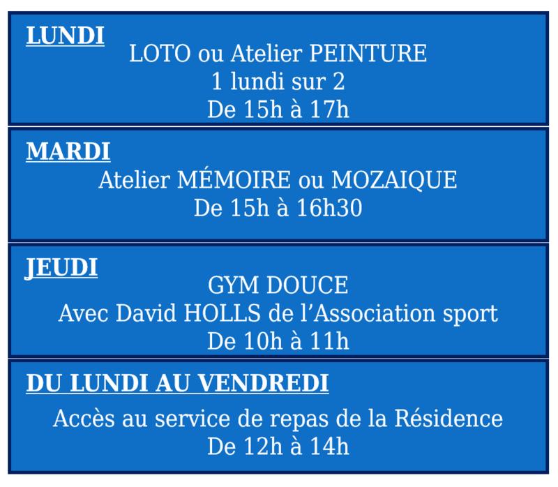 Programme 2019 Résidence Elie Gasc