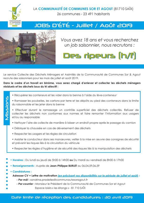 Ripeur CCSA 2019